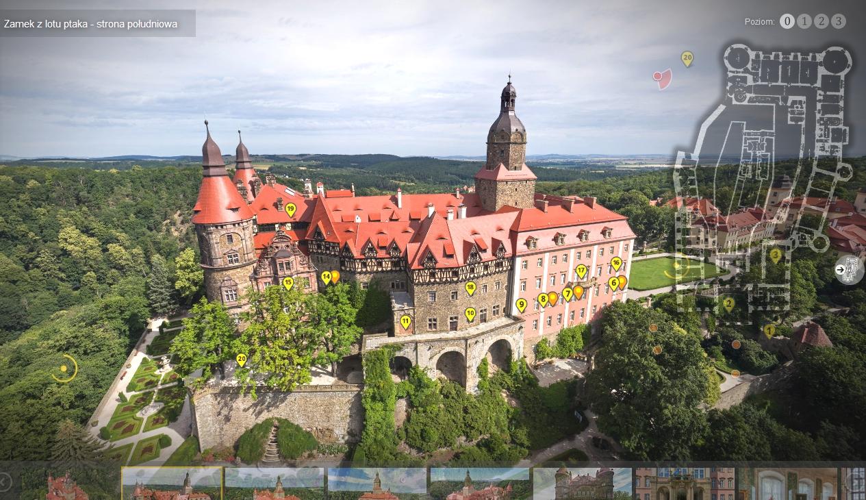 Virtuelle Schau zum Schloss Fürstenstein