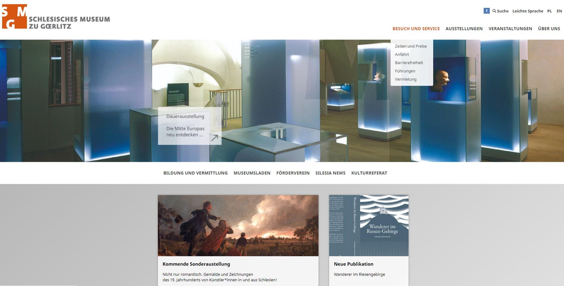 Neue Internetauftritte des Schlesischen Museums zu Görlitz